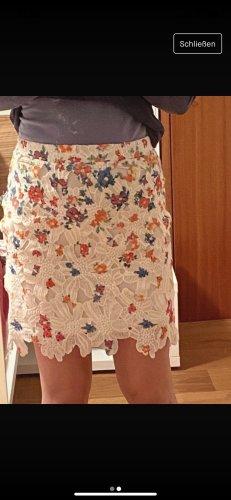 Romeo & Juliet Couture Falda de encaje multicolor