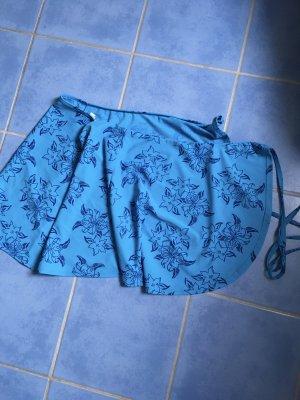 Falda cruzada azul-violeta amarronado
