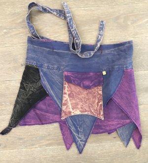 Rock Wickelrock lila schwarz violett Baumwolle S-XL