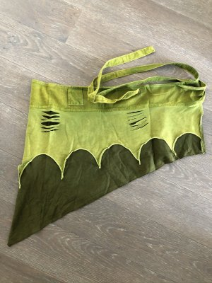 Jupe asymétrique vert gazon-kaki