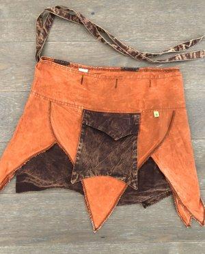 Rock Wickelrock rust braun Tasche Baumwolle S-XL