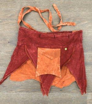 Rock Wickelrock rust rot Tasche Baumwolle S-XL