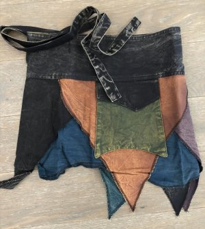 Rock Wickelrock schwarz petrol khaki Baumwolle S-XL