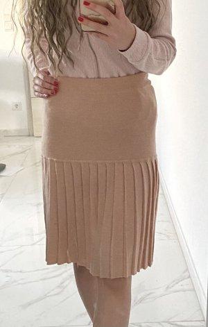 Lana Merino Wollen rok beige