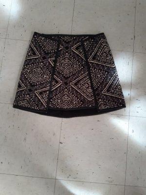 Asos Falda de lana negro-blanco puro
