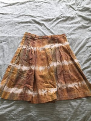 Zara Flared Skirt sand brown-cognac-coloured