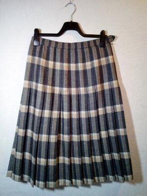 C&A Jupe à plis gris foncé-marron clair