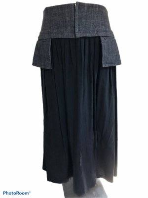 Yohji Yamamoto Jupe taille haute noir-gris