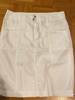 Z One Falda de lino blanco