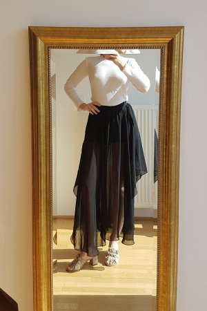 Zara Falda asimétrica negro