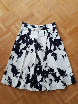 Zara Plisowana spódnica czarny-w kolorze białej wełny