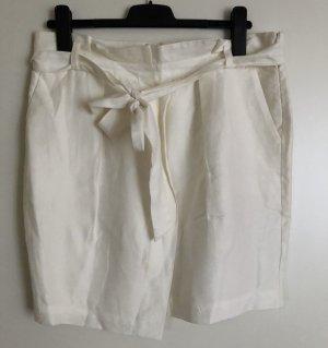 Zara Falda de lino blanco puro