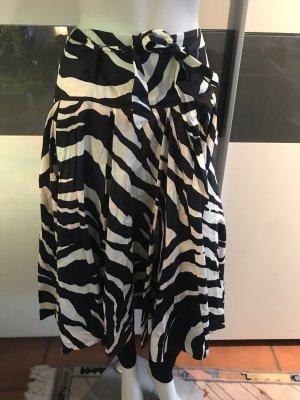 Zara Jupe à plis noir-blanc