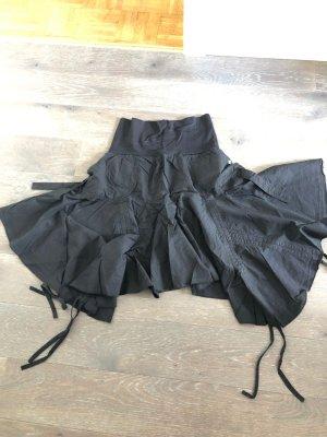 Asymmetry Skirt black cotton