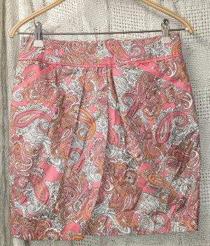 Rock, Zipper, Seitentaschen, Wickeloptik, Gr. 36