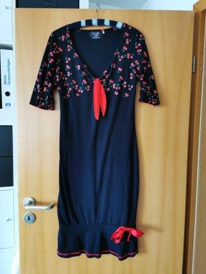 Küsten Luder Falda estilo lápiz negro-rojo