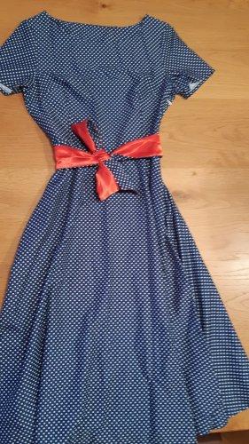 keine Marke Sukienka z halką czerwony-niebieski