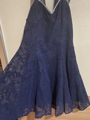 Candida Chiffon jurk donkerblauw