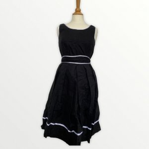 Orsay Petticoat Dress black-white