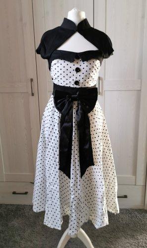 Robe avec jupon blanc-noir