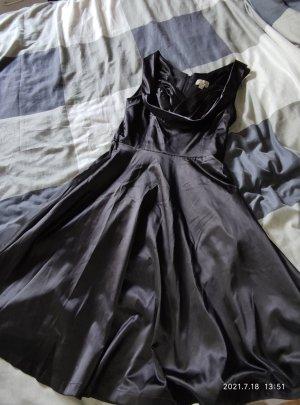 Rockabilly Lindy Bop schwarz glaenzend Kleid Weihnachten festlich 38