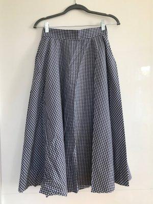 Uniqlo Circle Skirt white-dark blue