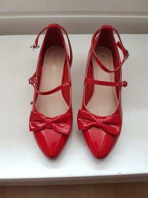 About You Tacones de tiras rojo ladrillo