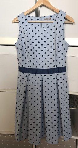 Orsay Vestido con enagua azul celeste-azul oscuro