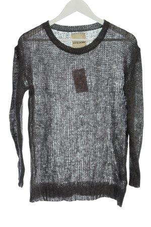 Rockamora Pullover all'uncinetto grigio chiaro stile semplice