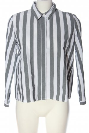 Rockamora Camicetta a maniche lunghe grigio chiaro-bianco stampa integrale