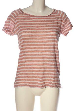 Rockamora Koszulka w paski biały-różowy Melanżowy W stylu casual