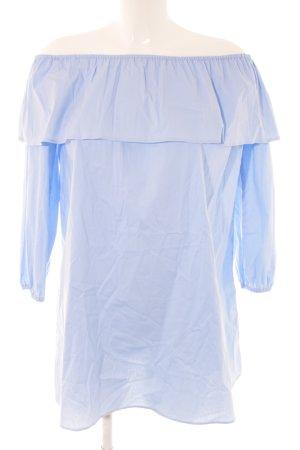 Rockamora schulterfreies Kleid blau Casual-Look