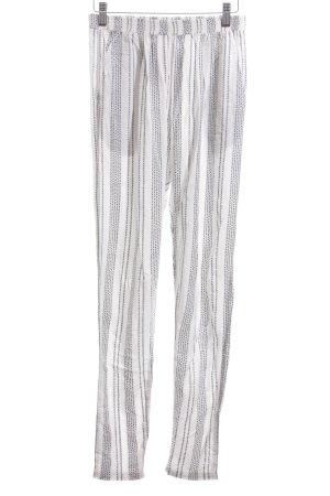 Rockamora Stoffhose weiß-schwarz Streifenmuster Casual-Look