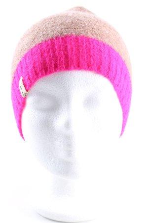 Rockamora Gebreide Muts room-roze casual uitstraling