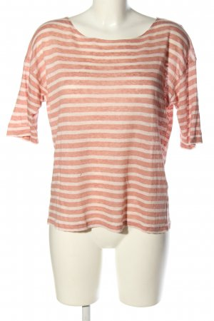 Rockamora T-Shirt pink-wollweiß Streifenmuster Casual-Look