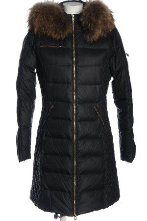 Rockandblue Giacca con cappuccio nero motivo trapuntato stile casual