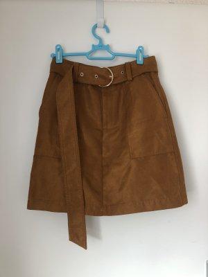 Asymmetry Skirt bronze-colored