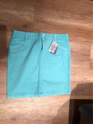 Soccx Denim Skirt turquoise