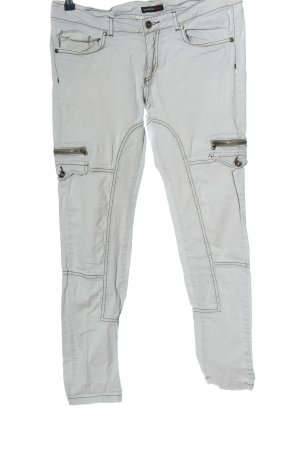 rockeewitter Tube jeans lichtgrijs casual uitstraling