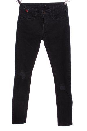 Rockgewitter Slim Jeans schwarz Casual-Look