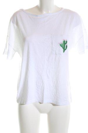 Rockgewitter T-Shirt weiß Motivdruck Casual-Look