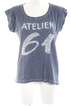Rockgewitter T-Shirt blau meliert Casual-Look