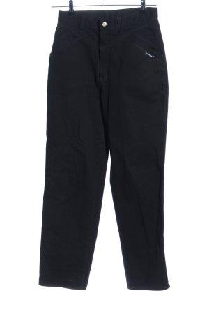 Hoge taille broek zwart casual uitstraling