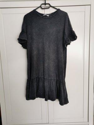 Pull & Bear Vestito peplo grigio scuro-antracite