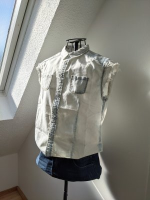 NoName Blouse en jean multicolore coton