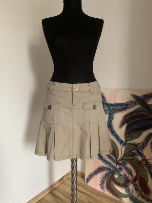 edc by Esprit Plaid Skirt light grey-natural white cotton