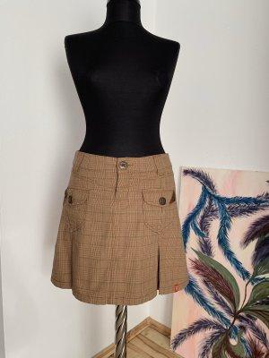 edc by Esprit Plaid Skirt beige-camel cotton