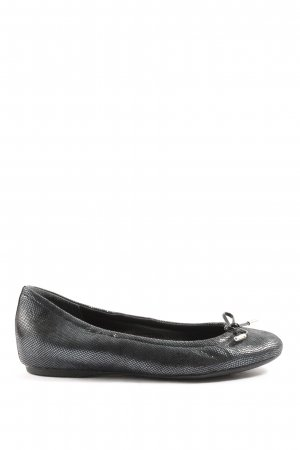Rockport Foldable Ballet Flats black animal pattern casual look