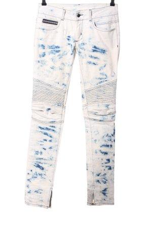 RockStar Vaquero hipster azul-blanco puro look casual