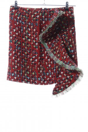 Rodebjer Wollrock rot abstraktes Muster Casual-Look